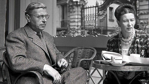Jean-Paul Sartre i Simone de Beauvoir u Parizu 1940.